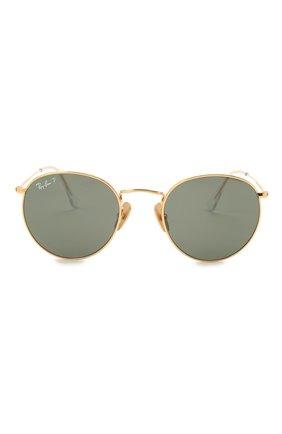 Женские солнцезащитные очки RAY-BAN золотого цвета, арт. 8247-921658 | Фото 4
