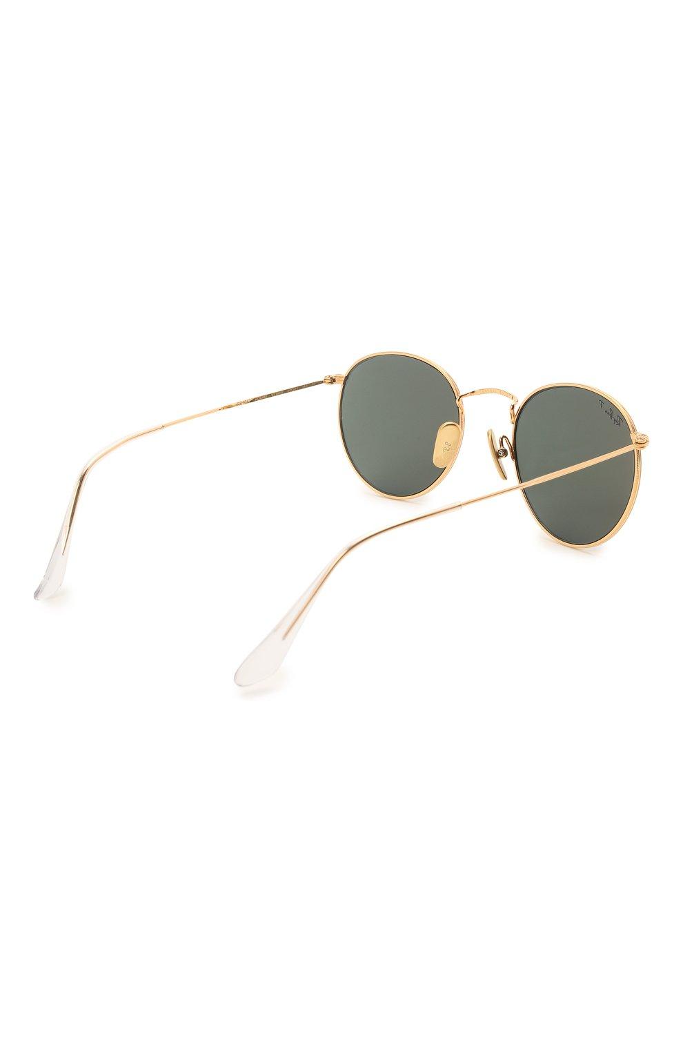 Женские солнцезащитные очки RAY-BAN золотого цвета, арт. 8247-921658 | Фото 5