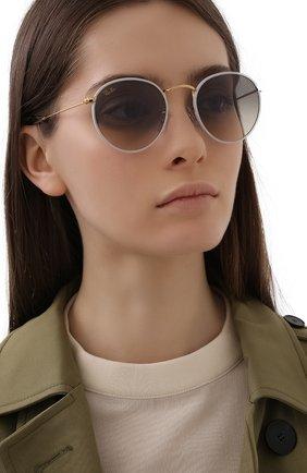 Женские солнцезащитные очки RAY-BAN белого цвета, арт. 3447JM-919632 | Фото 2
