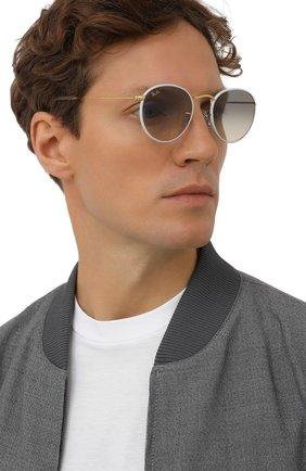 Женские солнцезащитные очки RAY-BAN белого цвета, арт. 3447JM-919632 | Фото 3