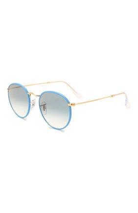 Женские солнцезащитные очки RAY-BAN голубого цвета, арт. 3447JM-91963F | Фото 1