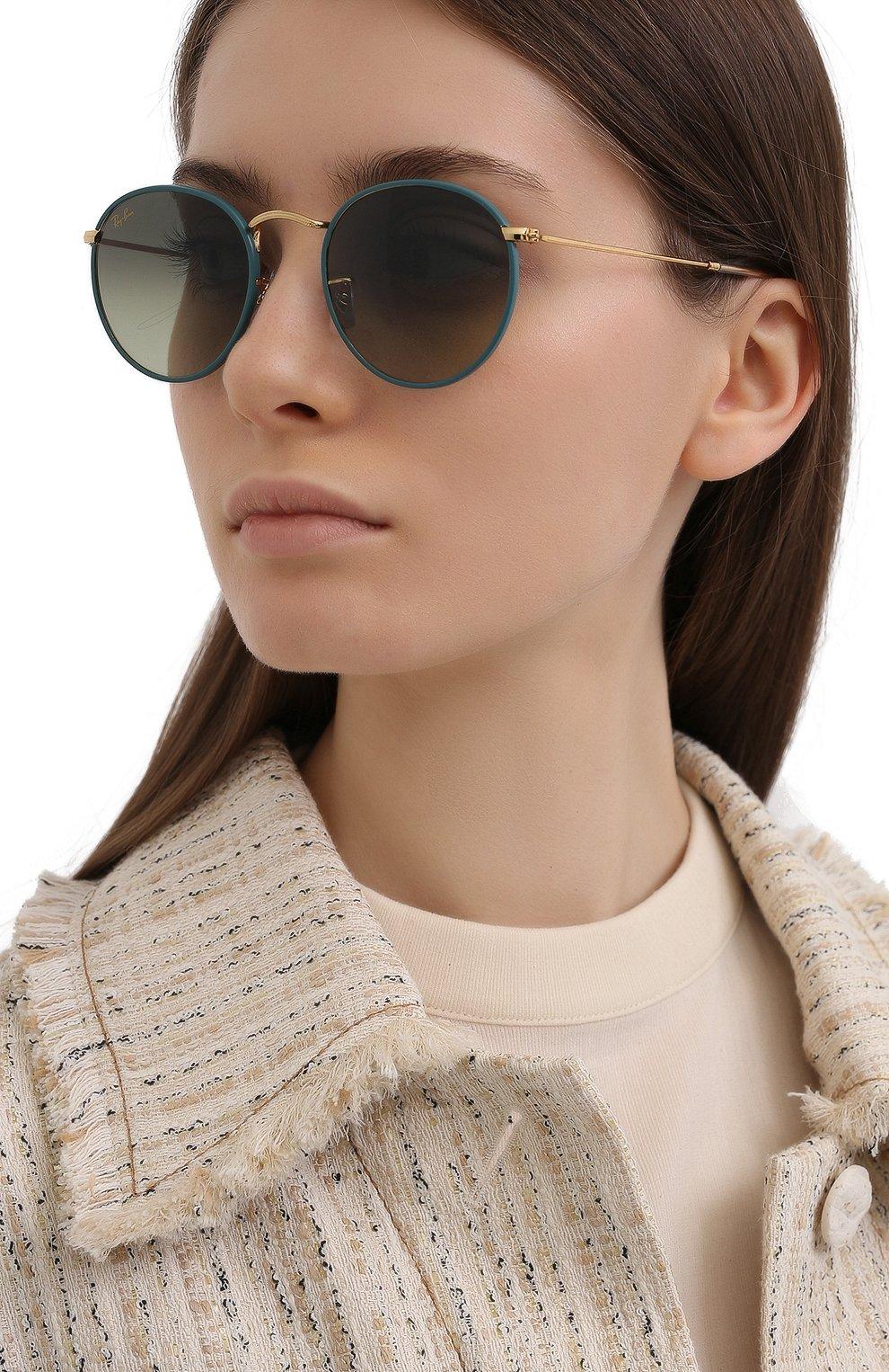 Женские солнцезащитные очки RAY-BAN зеленого цвета, арт. 3447JM-9196BH | Фото 2