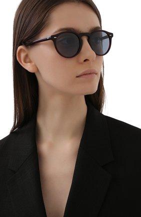Женские солнцезащитные очки OLIVER PEOPLES бордового цвета, арт. 5217S-167556 | Фото 2