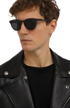 Мужские солнцезащитные очки DOLCE & GABBANA черного цвета, арт. 6148-325787 | Фото 2
