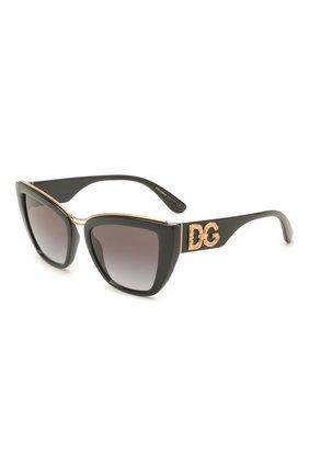 Женские солнцезащитные очки DOLCE & GABBANA черного цвета, арт. 6144-501/8G | Фото 1 (Тип очков: С/з; Очки форма: Cat-eye, Бабочка; Оптика Гендер: оптика-женское)