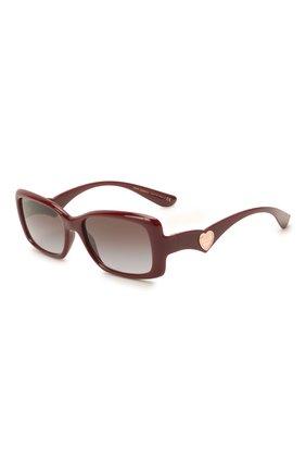Женские солнцезащитные очки DOLCE & GABBANA бордового цвета, арт. 6152-32858G | Фото 1 (Тип очков: С/з; Очки форма: Прямоугольные; Оптика Гендер: оптика-женское)