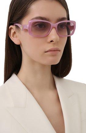 Женские солнцезащитные очки DOLCE & GABBANA розового цвета, арт. 6152-330084 | Фото 2 (Тип очков: С/з; Оптика Гендер: оптика-женское; Очки форма: Прямоугольные)