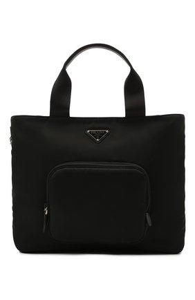 Женский сумка-тоут PRADA черного цвета, арт. 1BG360-V44-F0002-OOO | Фото 1