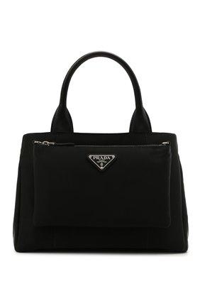 Женская сумка PRADA черного цвета, арт. 1BG364-UKW-F0002-OOT   Фото 1