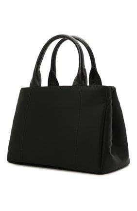 Женская сумка PRADA черного цвета, арт. 1BG364-UKW-F0002-OOT   Фото 2