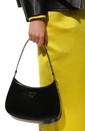 Женская сумка cleo PRADA черного цвета, арт. 1BC499-ZO6-F0002-OOO   Фото 2