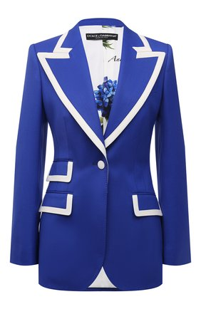 Женский шерстяной жакет DOLCE & GABBANA синего цвета, арт. I2B90W/GDZAU | Фото 1