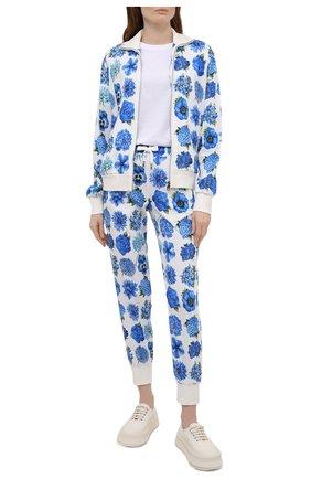 Женские джоггеры из вискозы DOLCE & GABBANA голубого цвета, арт. I3AAFW/FPRY2 | Фото 2