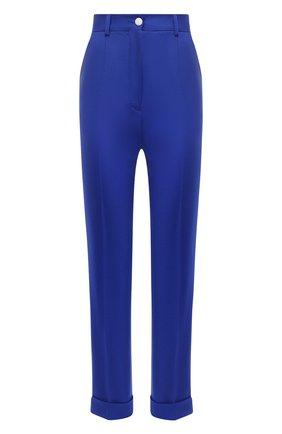 Женские шерстяные брюки DOLCE & GABBANA темно-синего цвета, арт. I3C29W/GDZAU | Фото 1
