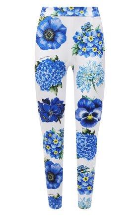 Женские леггинсы DOLCE & GABBANA голубого цвета, арт. I3C33W/GDZAK | Фото 1