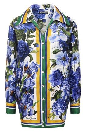Женская шелковая рубашка DOLCE & GABBANA разноцветного цвета, арт. I5596W/GDZAD | Фото 1