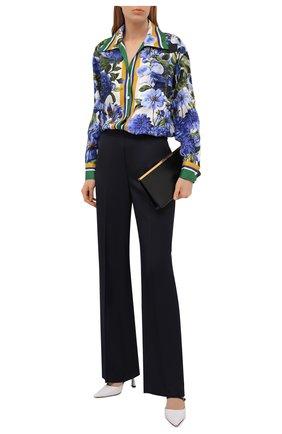 Женская шелковая рубашка DOLCE & GABBANA разноцветного цвета, арт. I5596W/GDZAD | Фото 2