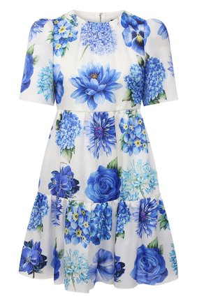 Женское шелковое платье DOLCE & GABBANA голубого цвета, арт. I6AE4W/GDZAJ   Фото 1