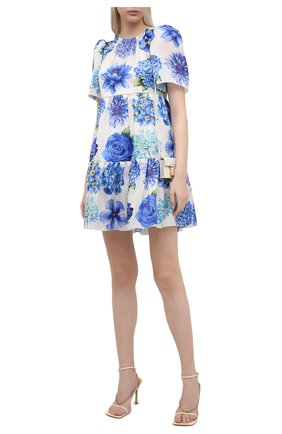 Женское шелковое платье DOLCE & GABBANA голубого цвета, арт. I6AE4W/GDZAJ   Фото 2