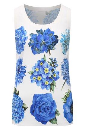 Женский топ из вискозы DOLCE & GABBANA голубого цвета, арт. I7K36W/GDZA0 | Фото 1