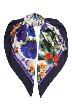 Женский шелковый платок DOLCE & GABBANA сиреневого цвета, арт. IN090R/G0TGG | Фото 1