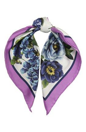 Женский шелковый платок DOLCE & GABBANA разноцветного цвета, арт. IN093R/G0TGD | Фото 1