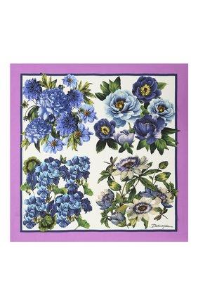 Женский шелковый платок DOLCE & GABBANA разноцветного цвета, арт. IN093R/G0TGD | Фото 2