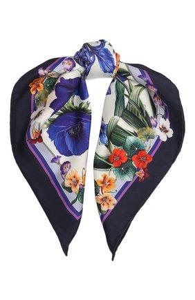 Женский шелковый платок DOLCE & GABBANA сиреневого цвета, арт. IN093R/G0TGG | Фото 1
