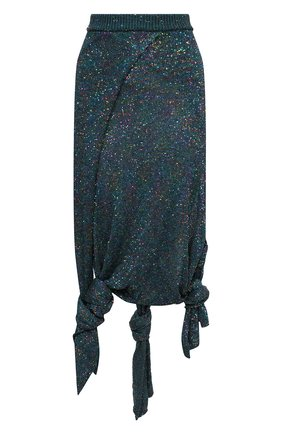Женская юбка LOEWE бирюзового цвета, арт. S540Y17K23 | Фото 1 (Материал внешний: Синтетический материал; Длина Ж (юбки, платья, шорты): Макси; Стили: Бохо; Женское Кросс-КТ: Юбка-одежда; Материал подклада: Вискоза; Кросс-КТ: Трикотаж)