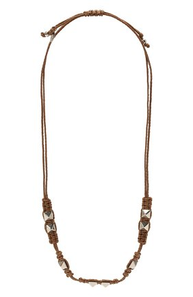 Женское колье rockstud VALENTINO коричневого цвета, арт. VW0J0I48/APG   Фото 1