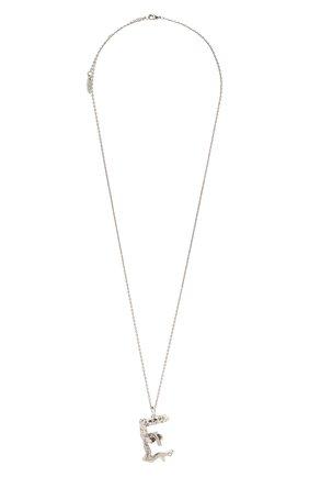 Женская кулон на цепочке alphabet e CHLOÉ серебряного цвета, арт. CHC21UF02ECH5 | Фото 1 (Материал: Металл)