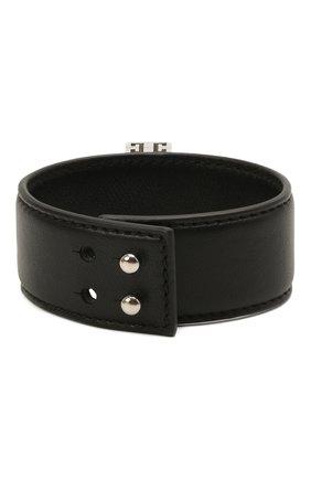 Женский кожаный браслет GIVENCHY черного цвета, арт. BF20B5F047 | Фото 2