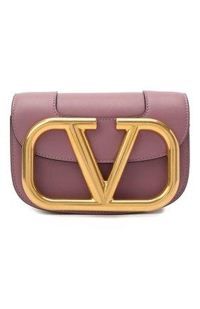 Женская сумка vlogo VALENTINO фиолетового цвета, арт. VW0B0G45/ZXL   Фото 1 (Сумки-технические: Сумки через плечо; Материал: Натуральная кожа; Размер: mini; Ремень/цепочка: На ремешке)