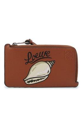 Женский кожаный футляр для кредитных карт loewe x paula's ibiza LOEWE коричневого цвета, арт. C643Z40X09   Фото 1