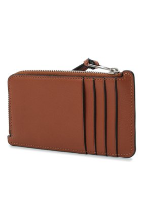Женский кожаный футляр для кредитных карт loewe x paula's ibiza LOEWE коричневого цвета, арт. C643Z40X09   Фото 2