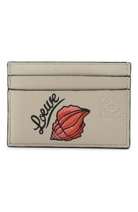 Женский кожаный футляр для кредитных карт loewe x paula's ibiza LOEWE бежевого цвета, арт. C643322X01 | Фото 1