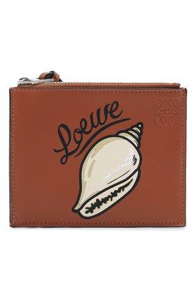 Женский кожаный футляр для кредитных карт loewe x paula's ibiza LOEWE коричневого цвета, арт. C643037X03   Фото 1