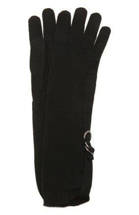 Женские кашемировые перчатки BRUNELLO CUCINELLI черного цвета, арт. M12170799P | Фото 1
