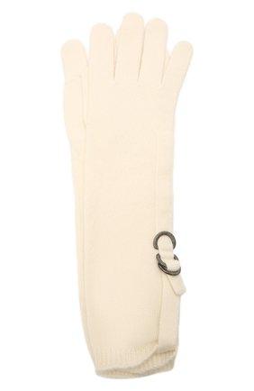 Женские кашемировые перчатки BRUNELLO CUCINELLI кремвого цвета, арт. M12170799P | Фото 1 (Материал: Шерсть, Кашемир)