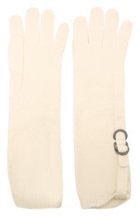 Женские кашемировые перчатки BRUNELLO CUCINELLI кремвого цвета, арт. M12170799P | Фото 2 (Материал: Шерсть, Кашемир)