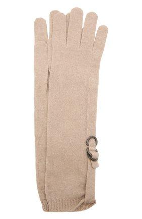 Женские кашемировые перчатки BRUNELLO CUCINELLI бежевого цвета, арт. M12170799P | Фото 1