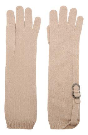 Женские кашемировые перчатки BRUNELLO CUCINELLI бежевого цвета, арт. M12170799P | Фото 2