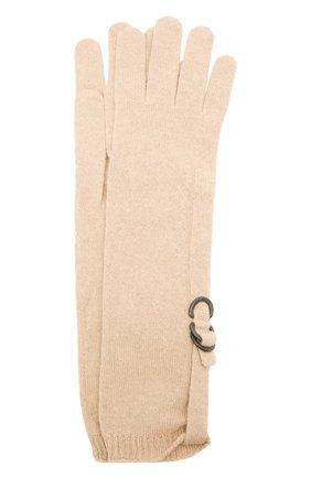 Женские кашемировые перчатки BRUNELLO CUCINELLI светло-бежевого цвета, арт. M12170799P | Фото 1