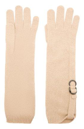 Женские кашемировые перчатки BRUNELLO CUCINELLI светло-бежевого цвета, арт. M12170799P | Фото 2