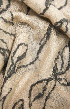 Женский шарф из кашемира и шелка BRUNELLO CUCINELLI бежевого цвета, арт. MSC93R049P | Фото 2