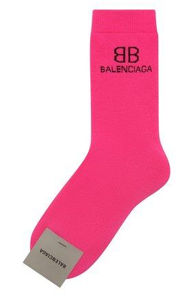 Женские носки BALENCIAGA розового цвета, арт. 640610/3A4B5 | Фото 1