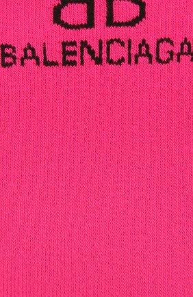 Женские носки BALENCIAGA розового цвета, арт. 640610/3A4B5 | Фото 2