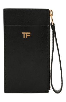 Женский кожаный футляр для кредитных карт TOM FORD черного цвета, арт. S0336T-LG0009 | Фото 1