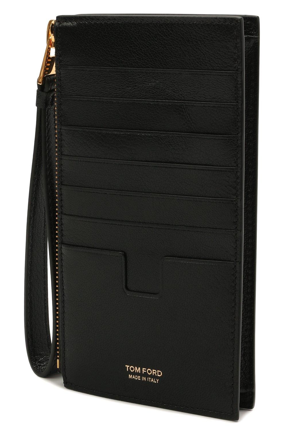 Женский кожаный футляр для кредитных карт TOM FORD черного цвета, арт. S0336T-LG0009 | Фото 2