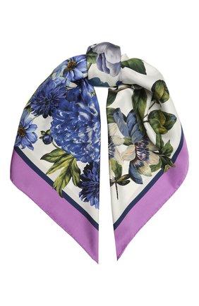 Женский шелковый платок DOLCE & GABBANA разноцветного цвета, арт. IN090R/G0TGD | Фото 1
